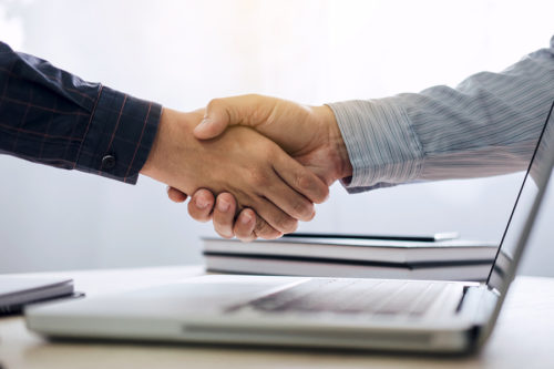 Car Accident Attorney Fees Handshake Deal